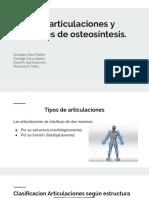 Tipos de Articulaciones y Osteosintesis