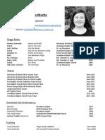 performance resume 2017
