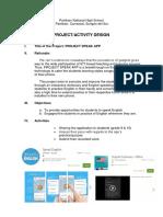 Activity Design Project App