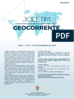 Boletim Geocorrente 67 23FEV2018