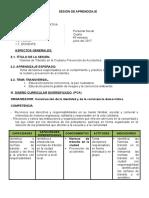SESIÓN DE APRENDIZAJE -primaria-DESASTRES NATURALES.doc