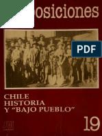 (2) Salazar,G (1990)Chile,Historia y Bajo Pueblo