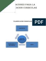 Orientaciones Para La Planificacion Curricular