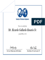 Member Certificate for 4648848