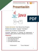 Actividad 4 - Lenguaje de Programacion., Reglas, Patrones Validos Y Distinguir Errores Lexicos