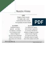Letra Himno Colegio Pitagoras