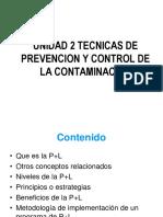 Unidad 2 Tecnicas de Prevencion de La Contaminacion