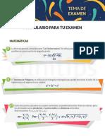 Fórmulas Examen UNAM