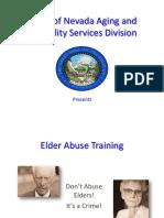 Elder Abuse Training