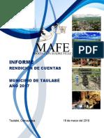 Informe de Rendición de Cuentas 2017 Taulabé
