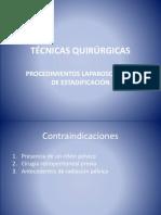 Técnicas Quirúrgicas Estadificacion Laparoscopica