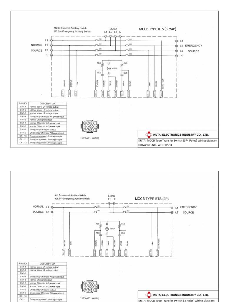 Ats Panel Drawing Sample Emergen Transfer Switch Wiring Diagram