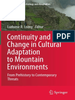 Continuity and Change in Cultural Adaptation to Mountains Environments
