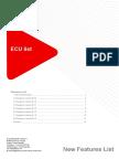 ECU List 6 5 0 New Features List