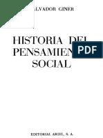 Historia del Pensamiento Social Salvador Giner