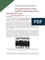 Tecnologicos en Materiales Para Generacion de Energia