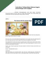 9 Contoh Teks Cerita Story Telling Dalam Bahasa Inggris Beserta Dengan Arti Lengkap