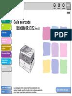IR1018 1022i Series Advanced Operation Guide ES