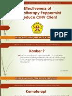 Ppt Efektivitas aromaterapi perermint menurunkan CINV