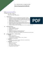 Silabo de Programación II, I-periodo 2018