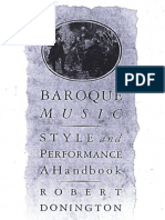 Baroque Music Style & Performance (by Donington)