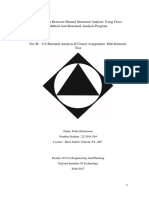 Comparison Manual Structure Analyis Cross Method and Structure Analysis Program Fix