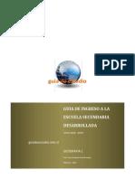 Guía de Ingreso a La Secundaria Geografía 1 - 2018