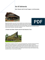 35 Rumah Adat Di Indonesia Beserta Keterangan