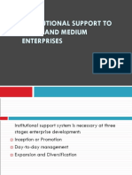 Unit 4 - Institutional Support to Small and Medium Enterprises