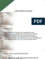 Teori Spektrofotometer Dan AUTO ANALYZER D4 Praktikum