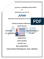 summer training report on consumer awareness of arcus multiservices pvt. ltd