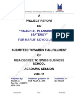 Financial Analysis - Maruti Udyog Limited_Final