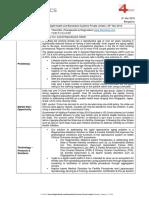 Innov4Sight Health - Venture Brief