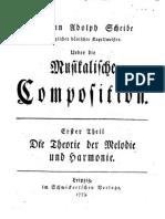 Über Die Musikalische Composition (von Scheibe)