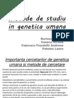 Metode de Studiu in Genetica Umana