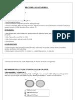 Mechanisms of Accelerators and Retarders