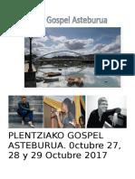 Plentziako Gospel Asteburua