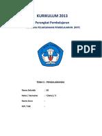 RPP K13 SD KELAS 1 Revisi 2016 Tema 5 - Pengalamanku