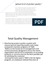 What is the Optimal Level of Product Quality