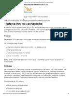 Trastorno Límite de La Personalidad_ MedlinePlus Enciclopedia Médica