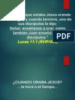 2016-09-11  EL HÁBITO DE ORAR