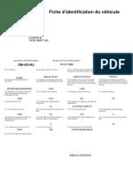 Fiche Identification Vehicule PDF