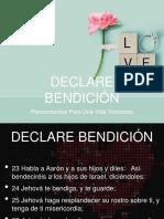 2016-08-03  DECLARE BENDICIÓN