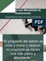 2016-08-10  DESARROLLE UNA MENTALIDAD DE RESTAURACIÓN