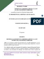 Decreto 78-2005 Reformas Al Decreto No. 42-2005. Reglamento a La Ley General Del Transporte Terr