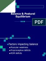 Regaining Balance & Equilibrium