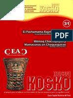 Kosko Pachamama Raymi Qatqa Revista Mosoq Kosko