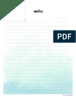 Note Paper Watercolour A4