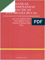 Gutiérrez - Manual de Enseñanzas Prácticas en Cirugía Bucal
