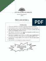 Exame de Quimica UP 2016